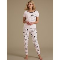 M&S Collection Sleepy Sheep Short Sleeve Pyjama Set