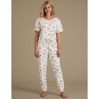 M&S Collection Dog Print Short Sleeve Pyjama Set