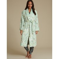 M&S Collection Shimmersoft Floral Print Dressing Gown