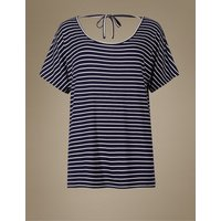 M&S Collection Striped Short Sleeve Pyjama Top