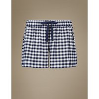 M&S Collection Checked Pyjama Shorts