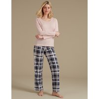 M&S Collection Pure Cotton Printed Cropped Pyjama Set