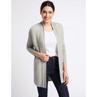 Per Una Cotton Blend Textured Stitch Detail Cardigan
