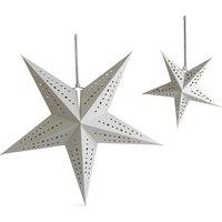 Set of 2 Decorative Paper Star Lights
