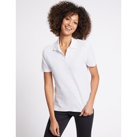 M&S Collection Pure Cotton Short Sleeve Polo Shirt at Marks and Spencer Online
