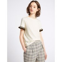Limited Edition Pure Cotton Frill Short Sleeve Top