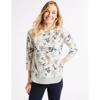 M&S Collection Textured Round Neck Long Sleeve Top