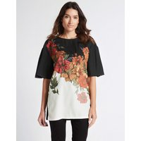 Per Una Floral Print Beaded Half Sleeve Tunic