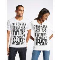 FASHION TARGETS BREAST CANCER Unisex Pure Cotton Slogan Short Sleeve T-Shirt