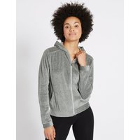 M&S Collection Cotton Rich Velour Long Sleeve Sweatshirt