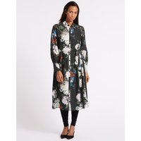 M&S Collection Floral Print Long Sleeve Shirt Dress