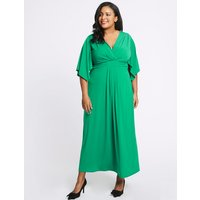 M&S Collection CURVE Front Knot Half Sleeve Maxi Dress