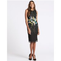 M&S Collection Floral Embroidered Bodycon Dress