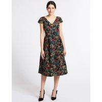 Per Una Jacquard Short Sleeve Prom Dress