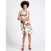 M&S Collection Floral Print Double Layer Tunic Dress