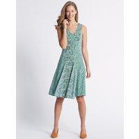 Classic Cotton Rich Burnout Print Dress