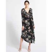 Per Una Floral Print Long Sleeve Wrap Dress