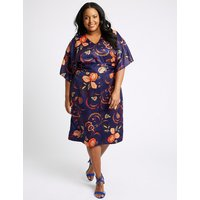 M&S Collection CURVE Floral Print Tunic Midi Dress