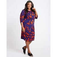 M&S Collection CURVE Floral Print Bodycon Dress