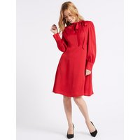 M&S Collection PETITE Long Sleeve Midi Dress