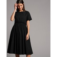 Autograph Pure Cotton Drawcord Swing Dress