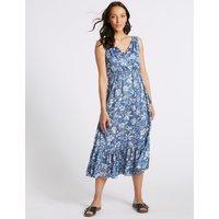 M&S Collection Floral Print Satin Slip Maxi Dress