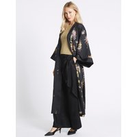 M&S Collection Floral Print Long Sleeve Kimono