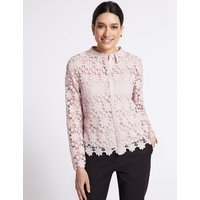 Per Una Daisy Lace Long Sleeve Blouse