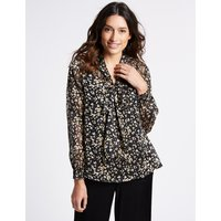 Per Una Animal Print Notch Neck Long Sleeve Blouse