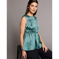 Autograph Gathered Round Neck Blouse