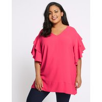 M&S Collection CURVE V-Neck Ruffle Sleeve Blouse