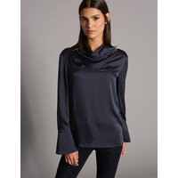Autograph Cowl Neck Long Sleeve Blouse