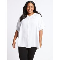 M&S Collection CUVRVE Round Neck Half Sleeve Blouse