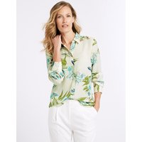 Classic Floral Print Long Sleeve Shirt