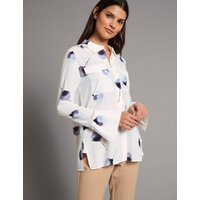 Autograph Pure Silk Floral Print Long Sleeve Shirt