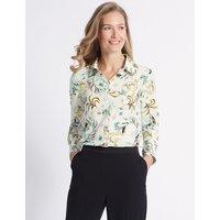 Classic Floral print Crepe Long Sleeve Shirt