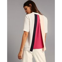 Autograph Pleat Back Short Sleeve Shell Top