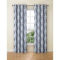 Abstract Striped Eyelet Curtain