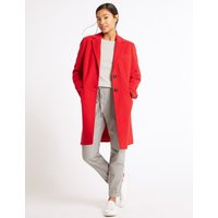 M&S Collection 2 Pocket Wool Rich Coat