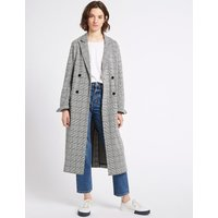 Limited Edition Cotton Blend Checked Duster Coat