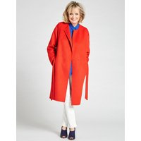 Twiggy Wool Blend Belted Coat