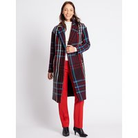 M&S Collection Double Breasted Checked Coat