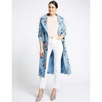 Per Una Pure Cotton Embroidered Trench Coat