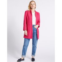 M&S Collection PETITE Textured Zipped Coat