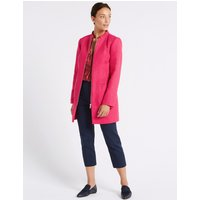 M&S Collection Textured Zipped Front Coat