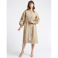 Limited Edition Cotton Rich Puff Sleeve Trench Coat