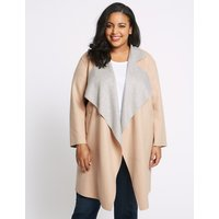 M&S Collection CURVE Waterfall Coat
