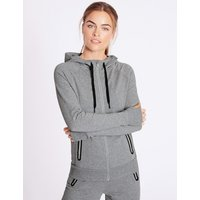 MandS Collection Cotton Rich Hooded Top