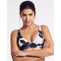 M&S Collection Printed Bikini Top