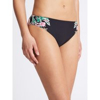 M&S Collection Floral Print High Leg Bikini Bottoms
